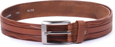 Buckleup Men Tan Genuine Leather Belt