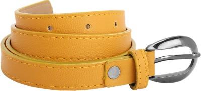 Aadaana Women Casual Yellow Artificial Leather Belt