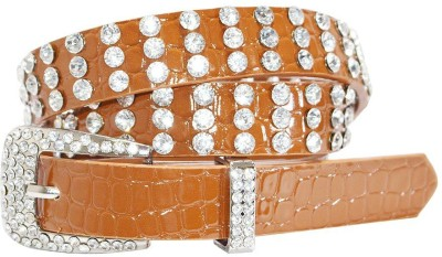 Hadwin Girls Party Tan Artificial Leather Belt