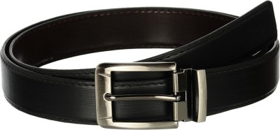Osaiz Men, Boys Formal Black Artificial Leather, Metal Belt