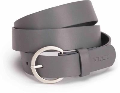 Viari Women Casual Grey Genuine Leather Belt