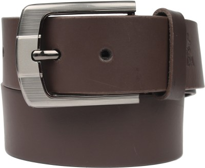 ZDO Men Casual Brown Genuine Leather Belt