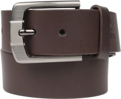 ZDO Men Casual Brown Genuine Leather Belt