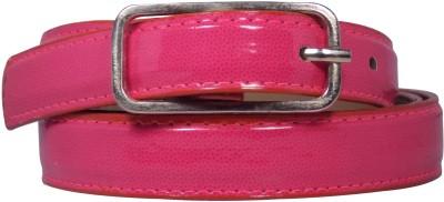 Ekora Girls Casual Pink Artificial Leather Belt
