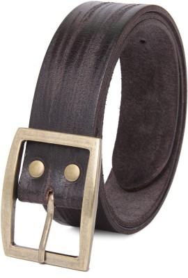 NEUBUCK Men Black Genuine Leather Belt