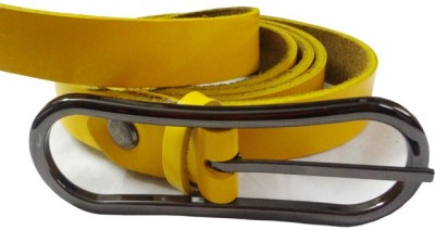 Avichelle Girls, Women Formal, Evening Yellow Artificial Leather Belt