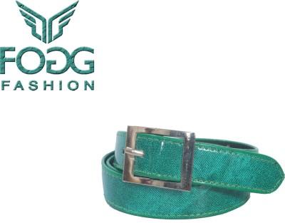 Fogg Fashion Store Girls, Women Casual, Formal, Evening Green Artificial Leather Belt