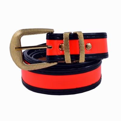 Antiformal Women Casual, Evening, Party Orange Genuine Leather, Metal Reversible Belt