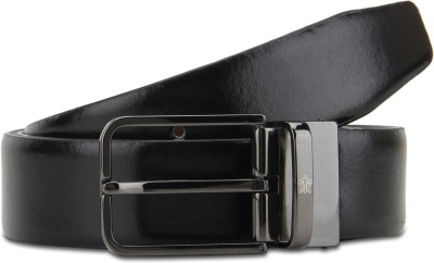 Turtle Men Formal Black, Brown Genuine Leather Reversible Belt