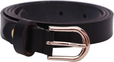 Stylehoops Boys, Men, Girls, Women Formal Black Genuine Leather Belt