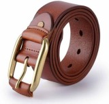 Pardhan Boys Brown Genuine Leather Belt
