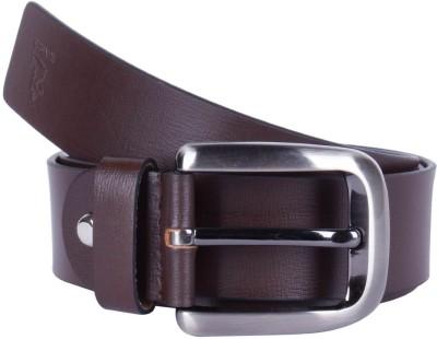 Kara Men Formal Brown Genuine Leather Belt