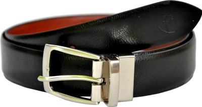 MOSPL Men Formal Black, Brown Artificial Leather Reversible Belt
