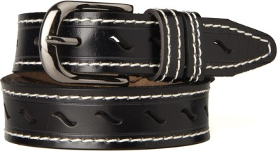 Goguava Men Casual Black Genuine Leather Belt