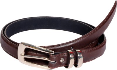 Swan Collection Girls, Women Casual, Formal Brown Artificial Leather Belt