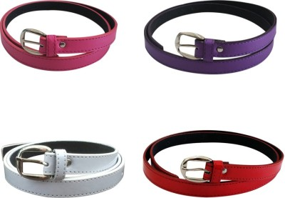 Verceys Girls, Women Casual Pink, Purple, White, Red Artificial Leather Belt