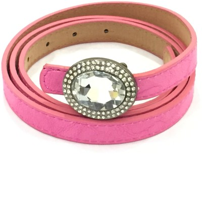 Sir Michele Women Casual Pink Artificial Leather Belt