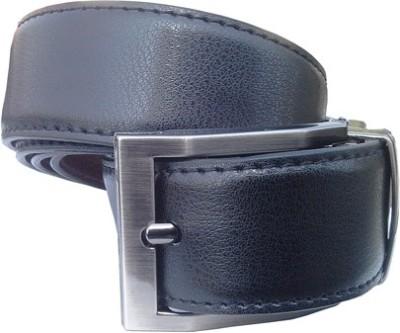 Wholesomdeal Men Casual Black Synthetic Reversible Belt