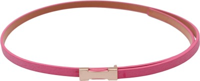 Stylehoops Women, Girls Casual, Party, Evening Pink Artificial Leather Belt