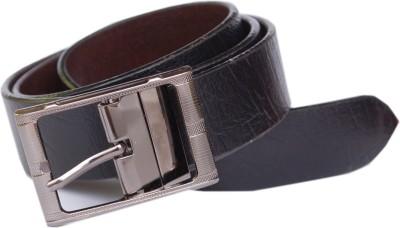 sankalp Men Formal Black Genuine Leather Reversible Belt