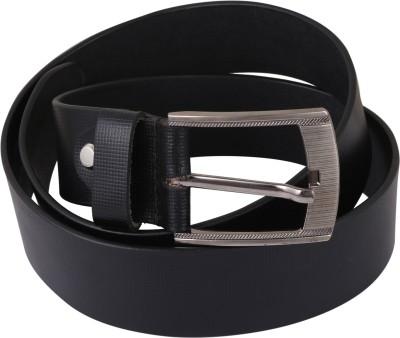 RMX Men Black Genuine Leather Belt