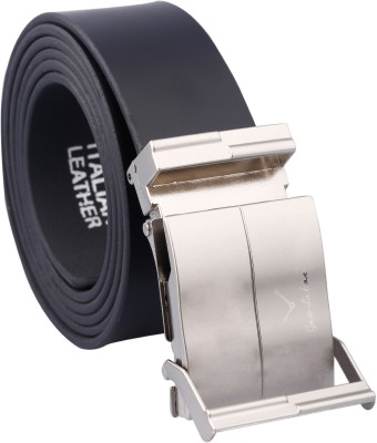 Fashno Men Black Artificial Leather Belt