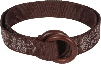 Anekaant Women Casual Brown Fabric Belt