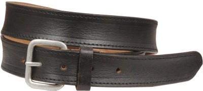 Swastika Men Casual Black Genuine Leather Belt