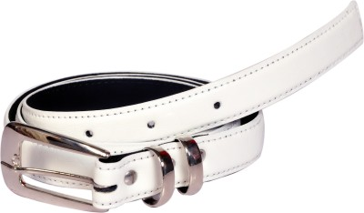 Swan Collection Girls, Women Casual, Formal White Artificial Leather Belt