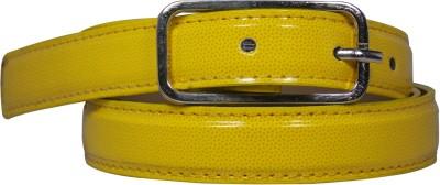 Ekora Girls Casual Yellow Artificial Leather Belt