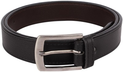 Rocksy Men Formal Black Artificial Leather Belt