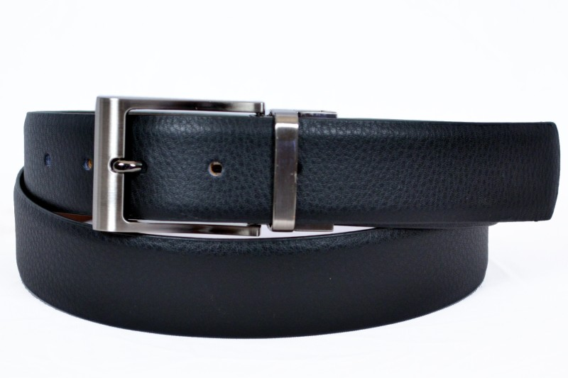 Izma Men Formal Black Genuine Leather Reversible Belt
