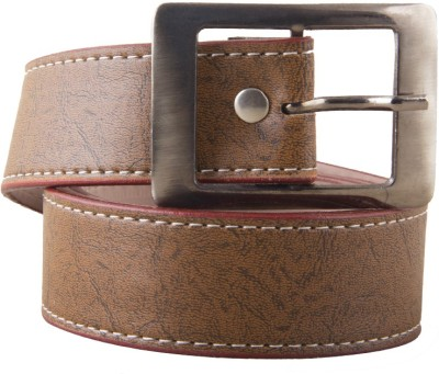 Fast Fox Men Tan Synthetic Belt
