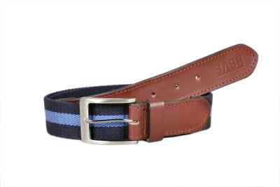 Sash Men Casual Brown, Blue Genuine Leather, Canvas Belt