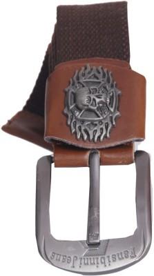 Oril Men Casual Brown Canvas Belt