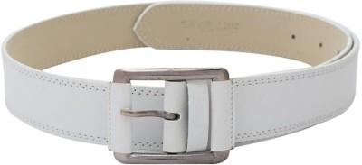 SkyWays Men Evening White Artificial Leather Belt