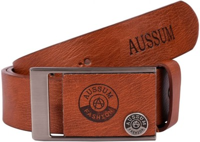 AUSSUM Men Casual, Formal Brown Artificial Leather Belt