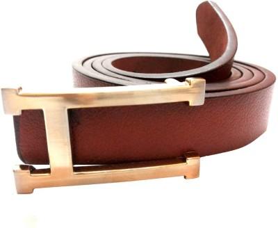 Mode Girls, Women Casual, Formal Brown Genuine Leather Belt
