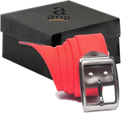 ARIP Men, Boys Formal Red Canvas Belt