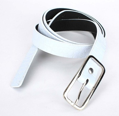 TOBO Women Casual White Synthetic Belt