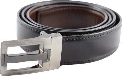 Desi Saga Men Casual Black Artificial Leather Reversible Belt