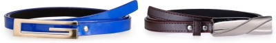 Allura Women Evening, Party, Casual, Formal Blue, Brown Synthetic Belt