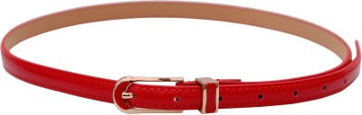 Stylehoops Women Casual, Party, Evening Red Artificial Leather Belt