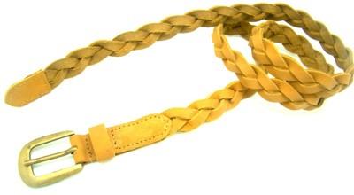 LaPalma Women Casual Yellow Genuine Leather Belt
