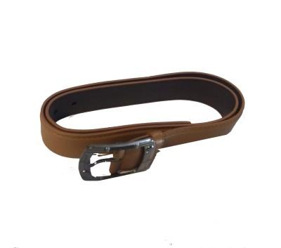 Attitude Works Men Tan Artificial Leather Belt