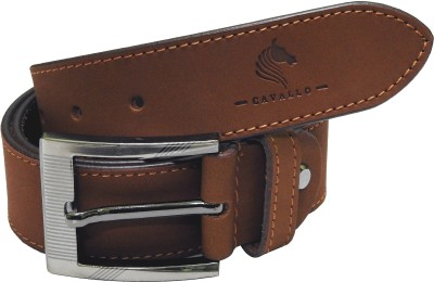 Cavallo Men Casual, Evening, Party Brown Genuine Leather Belt