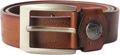Haster Men Casual Brown Genuine Leather Belt
