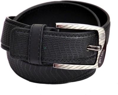 Domestiq Men Casual Black Artificial Leather Belt