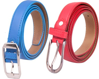 Spairow Girls Party Blue, Red Synthetic Belt