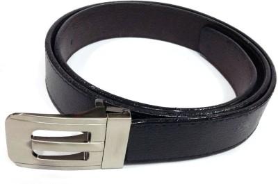 Craftbazaar Men Formal Black Artificial Leather Belt